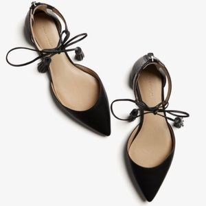 ann taylor • ethel leather tassel flat